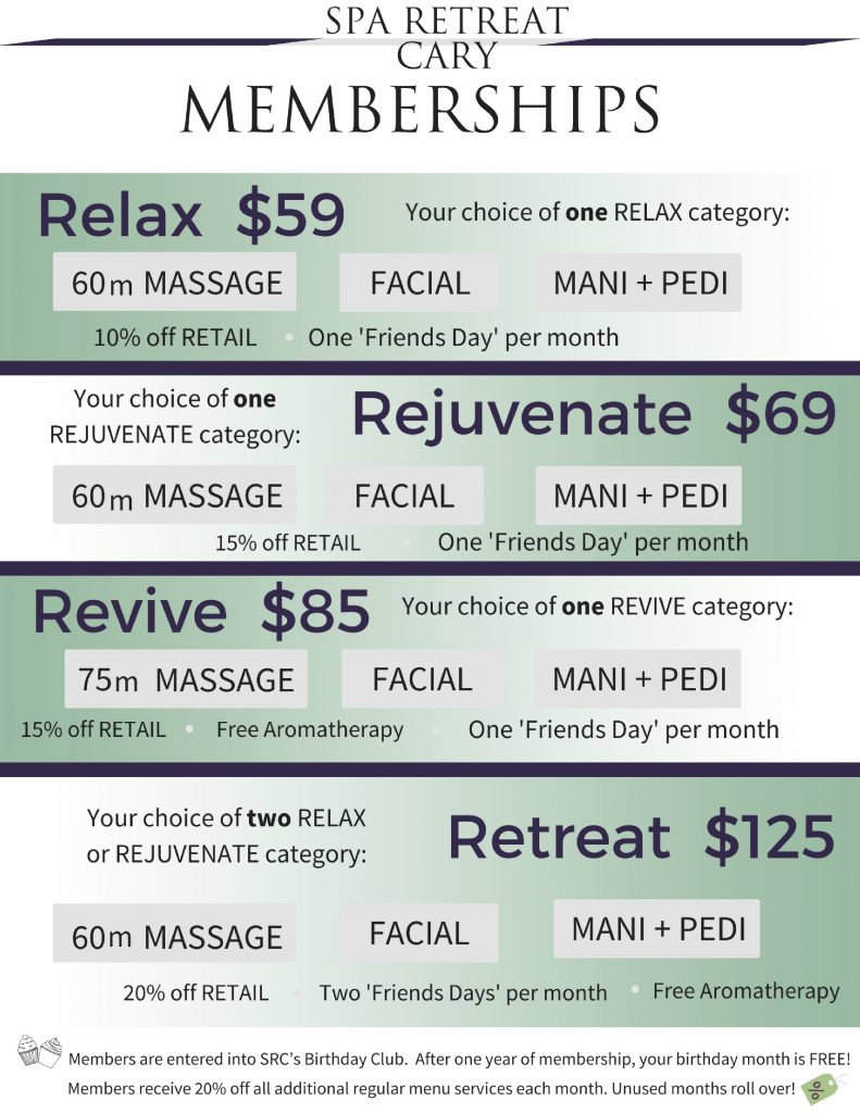 Spa Memberships for Massage & Special Offers | Spa Retreat